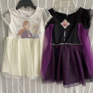 Lot of 2 Disney Frozen II dresses Elsa & Anna